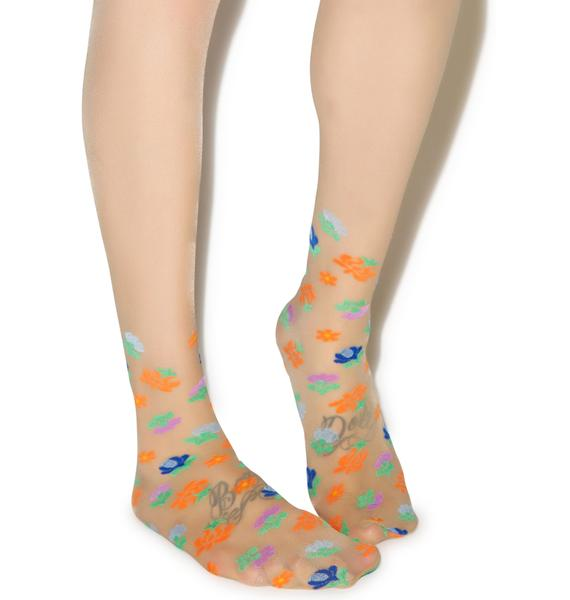 Pretty Polly California Floral Pantyhose