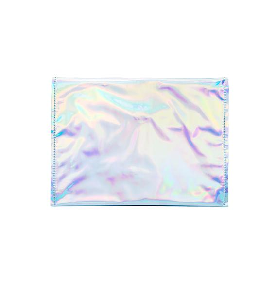 Hologram Fold Over Clutch