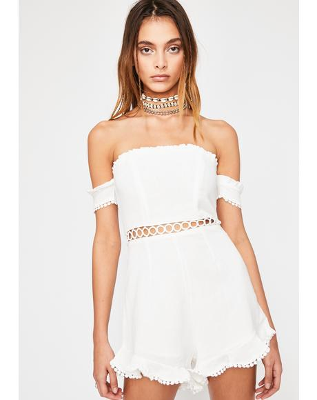 Pure Summer Delight Off Shoulder Romper