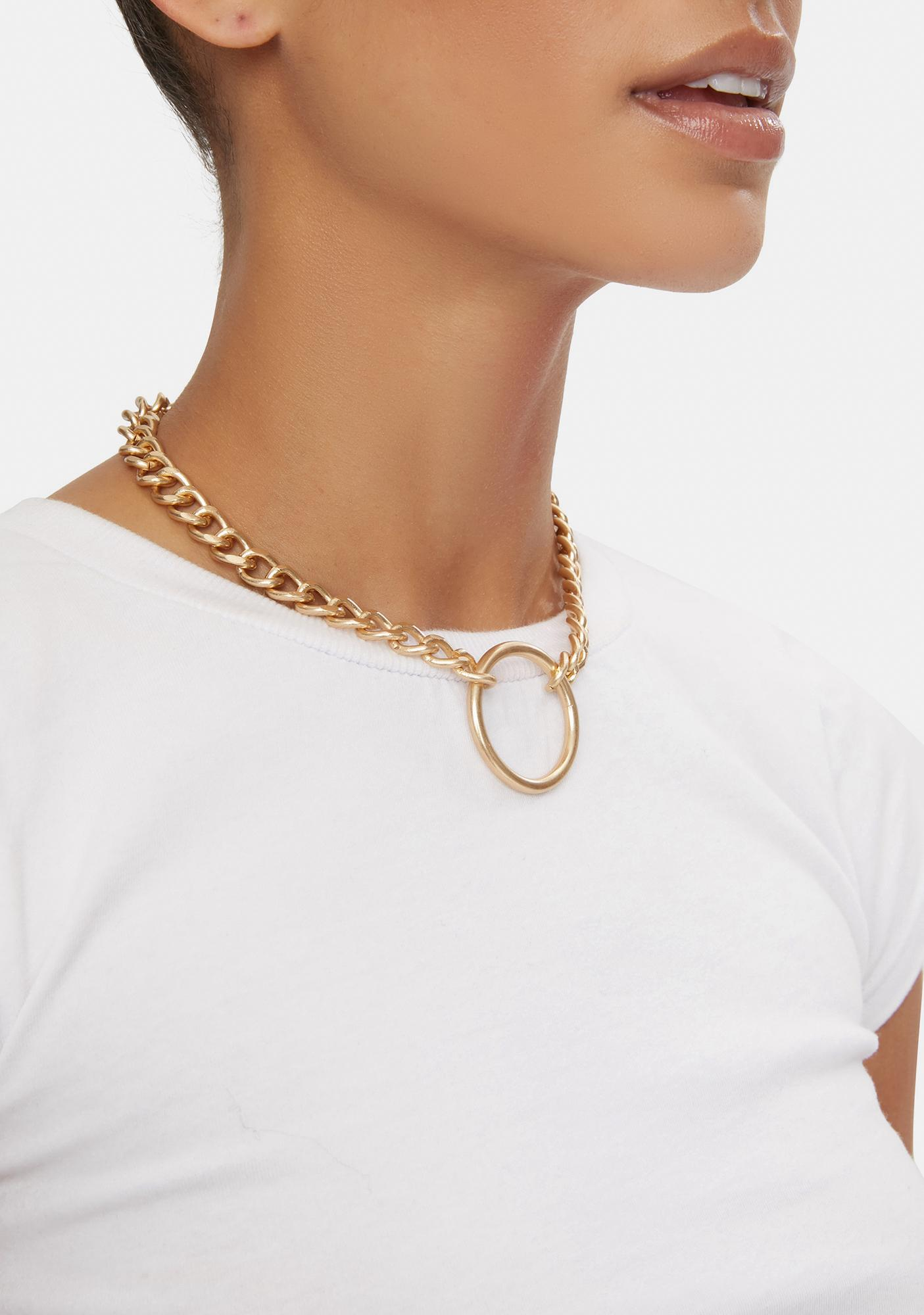 Goldie U Got Curved O-Ring Chain Necklace