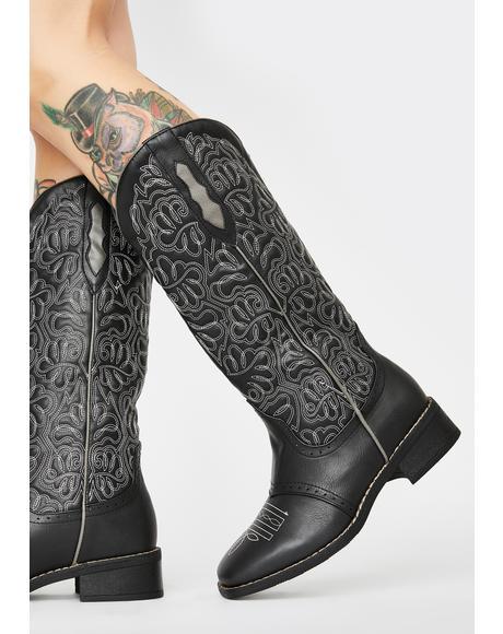Through The Badlands Cowboy Boots