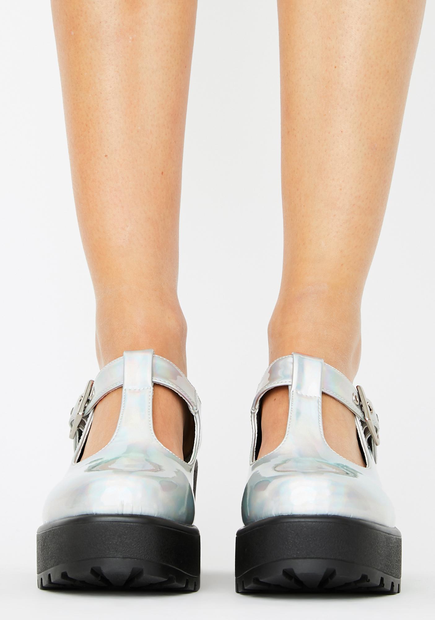 Koi Footwear Sai Holographic Mary Janes