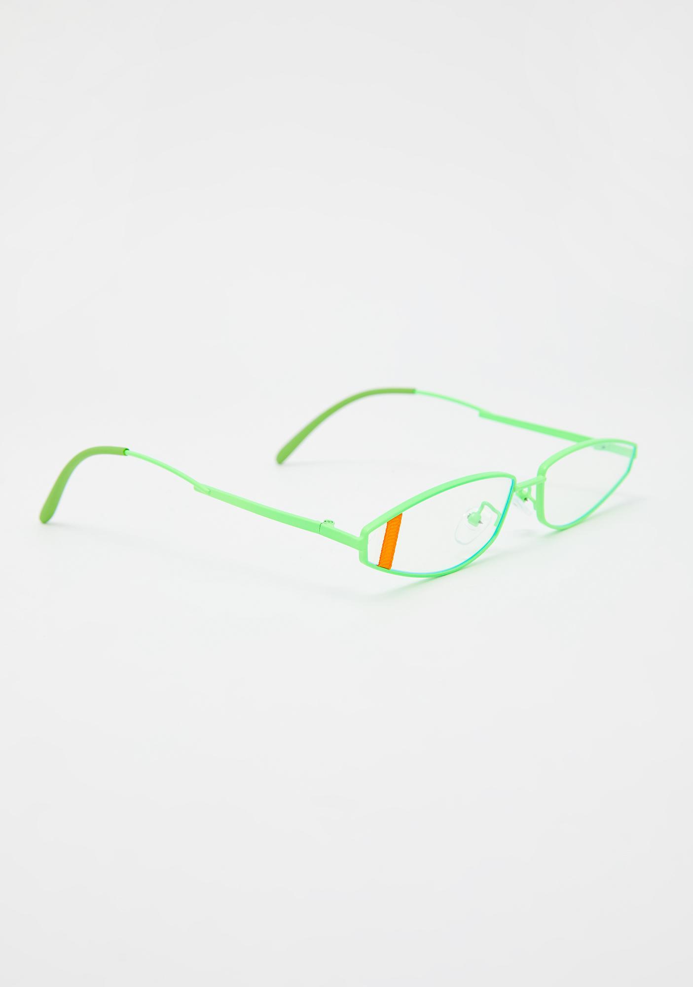 Teal Earn Your Stripes Cat Eye Sunglasses