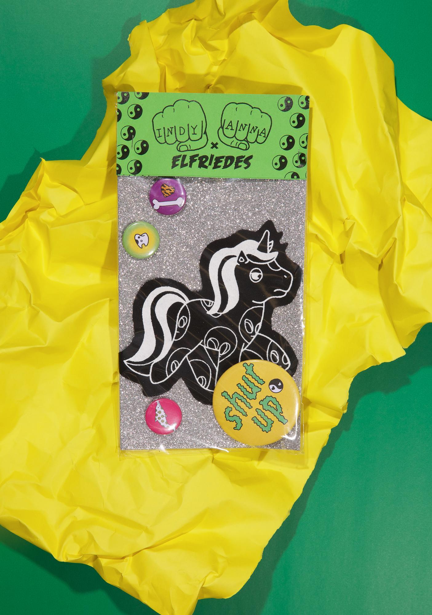 Indyanna Alien Pony Patch 'N Pin Set