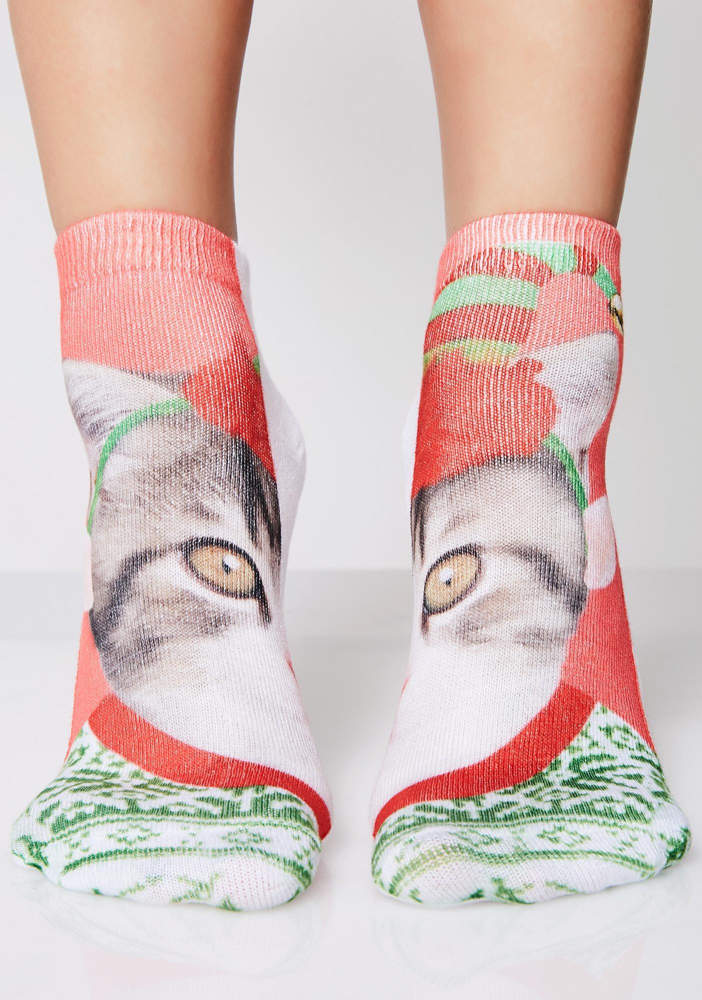 Elf Kitten Ankle Socks