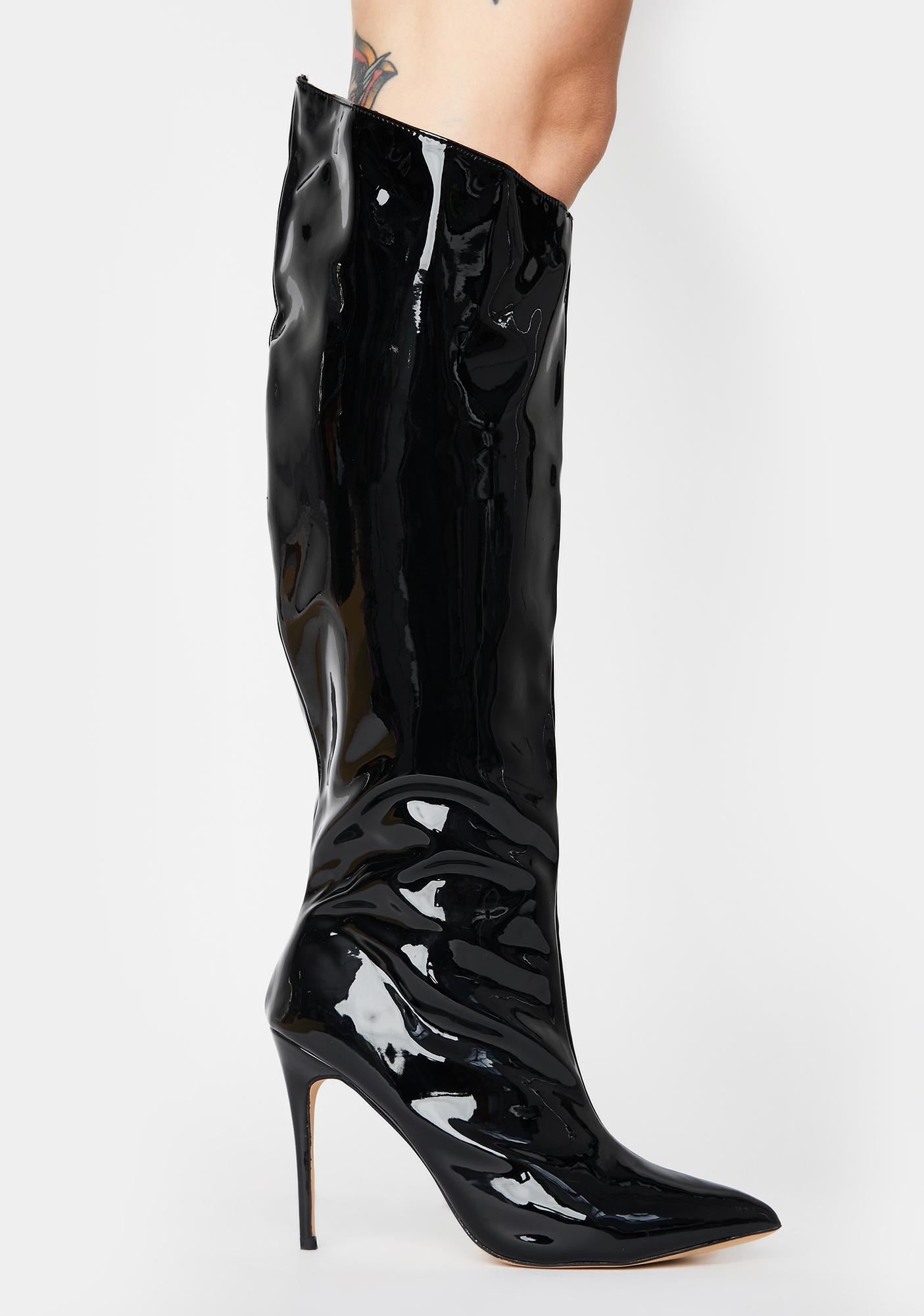 Public Desire Thriller Knee High Boots