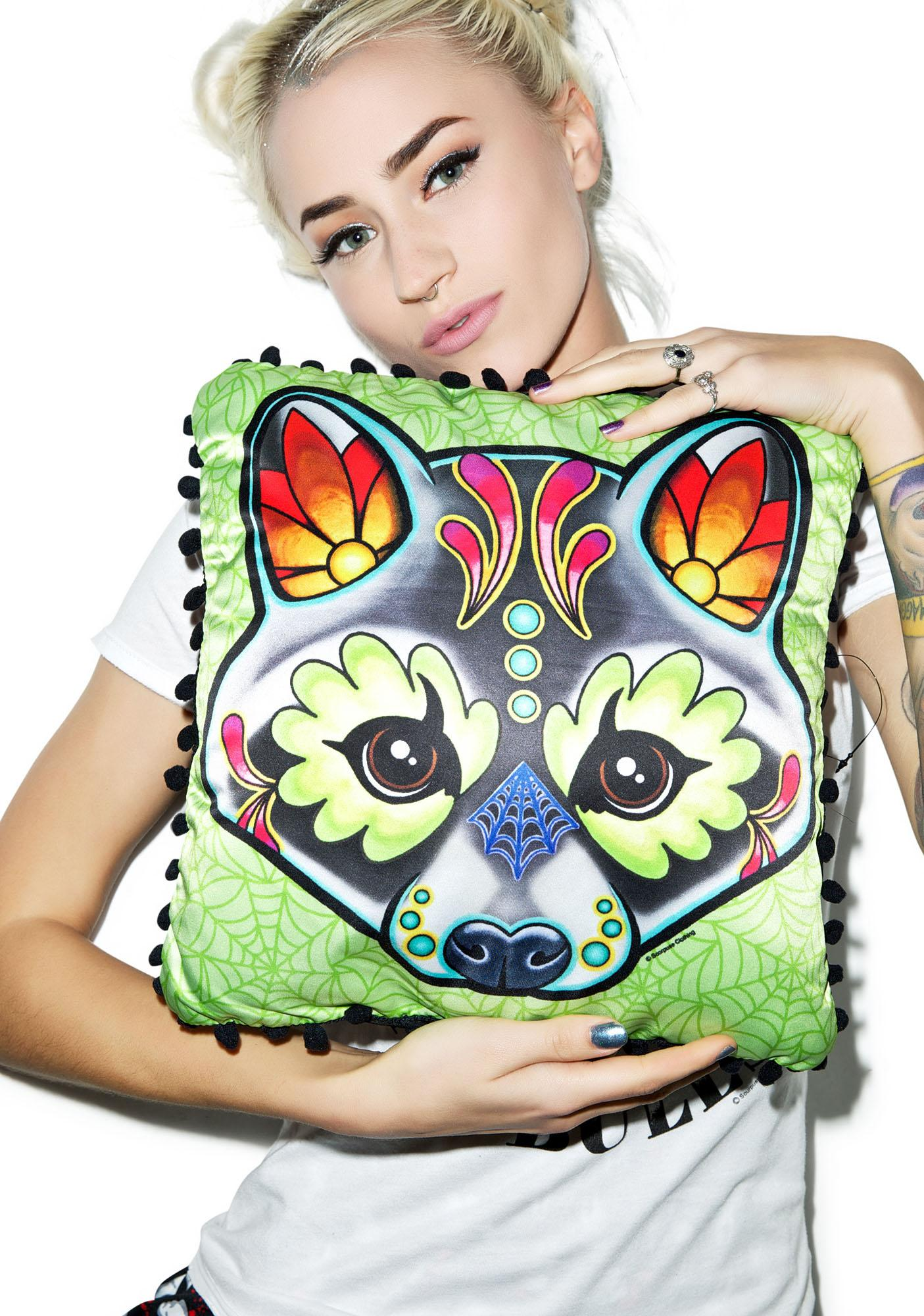 Sourpuss Clothing Racoon Woodland Pillow