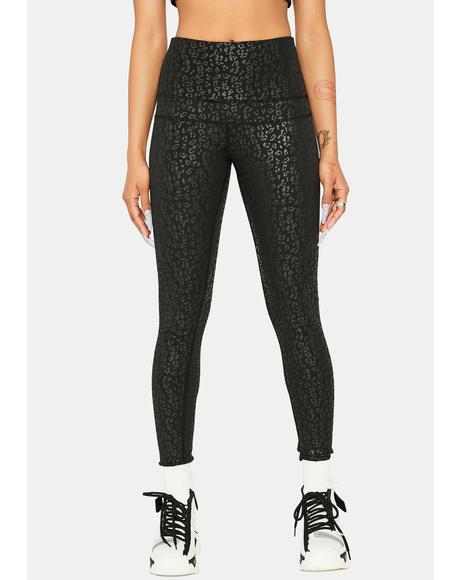 Noir Catty Competition Leopard Leggings