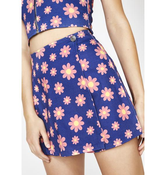 dELiA*s by Dolls Kill Forget Me Not Floral Skort
