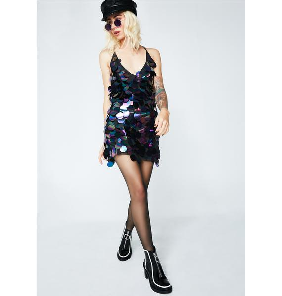 Motel Oil Spill Purpura Dress