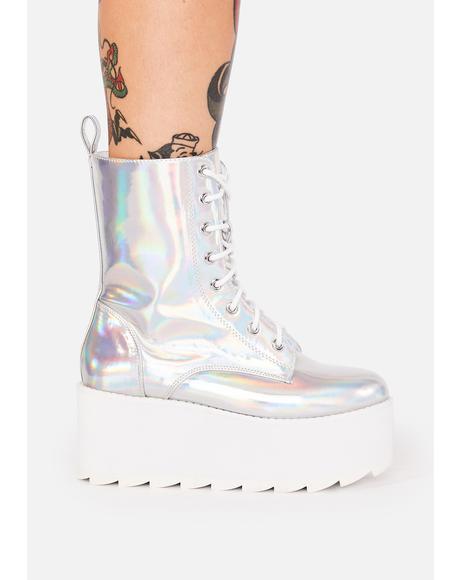 BLOQ Holographic Platform Boots