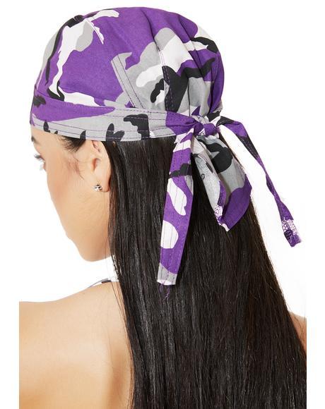 Ultra Violet Camo Headwrap