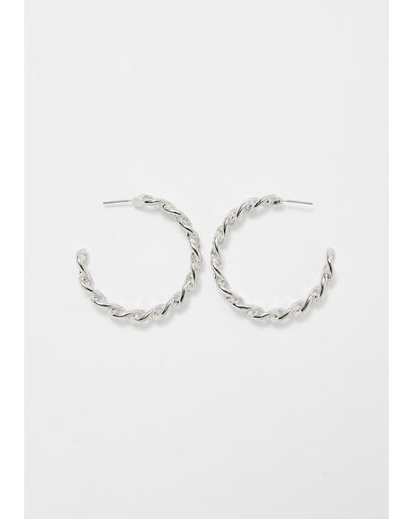 Break It Down Hoop Earrings