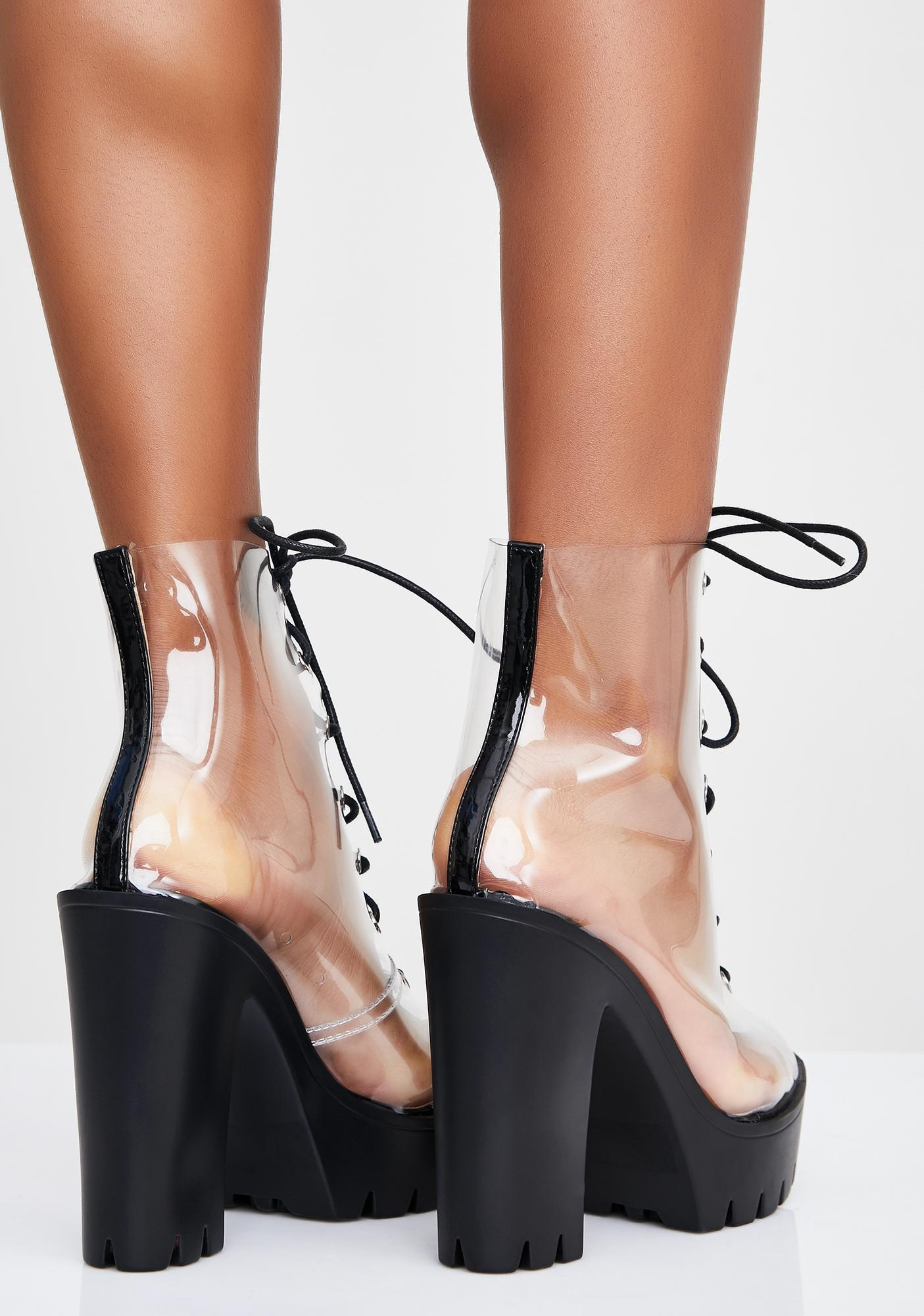 Sinful Harsh Truth Clear Booties