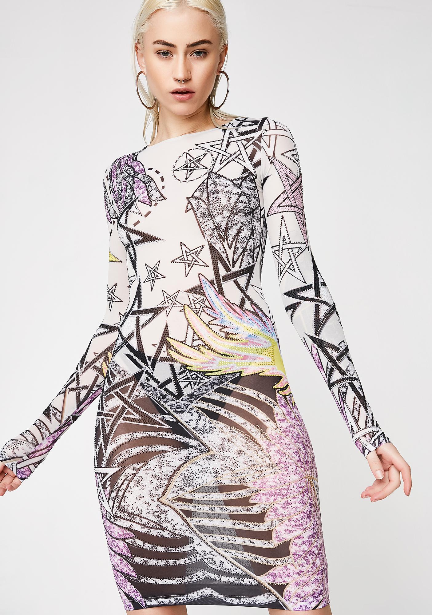 Kiki Riki Stars Fallin' Sheer Dress
