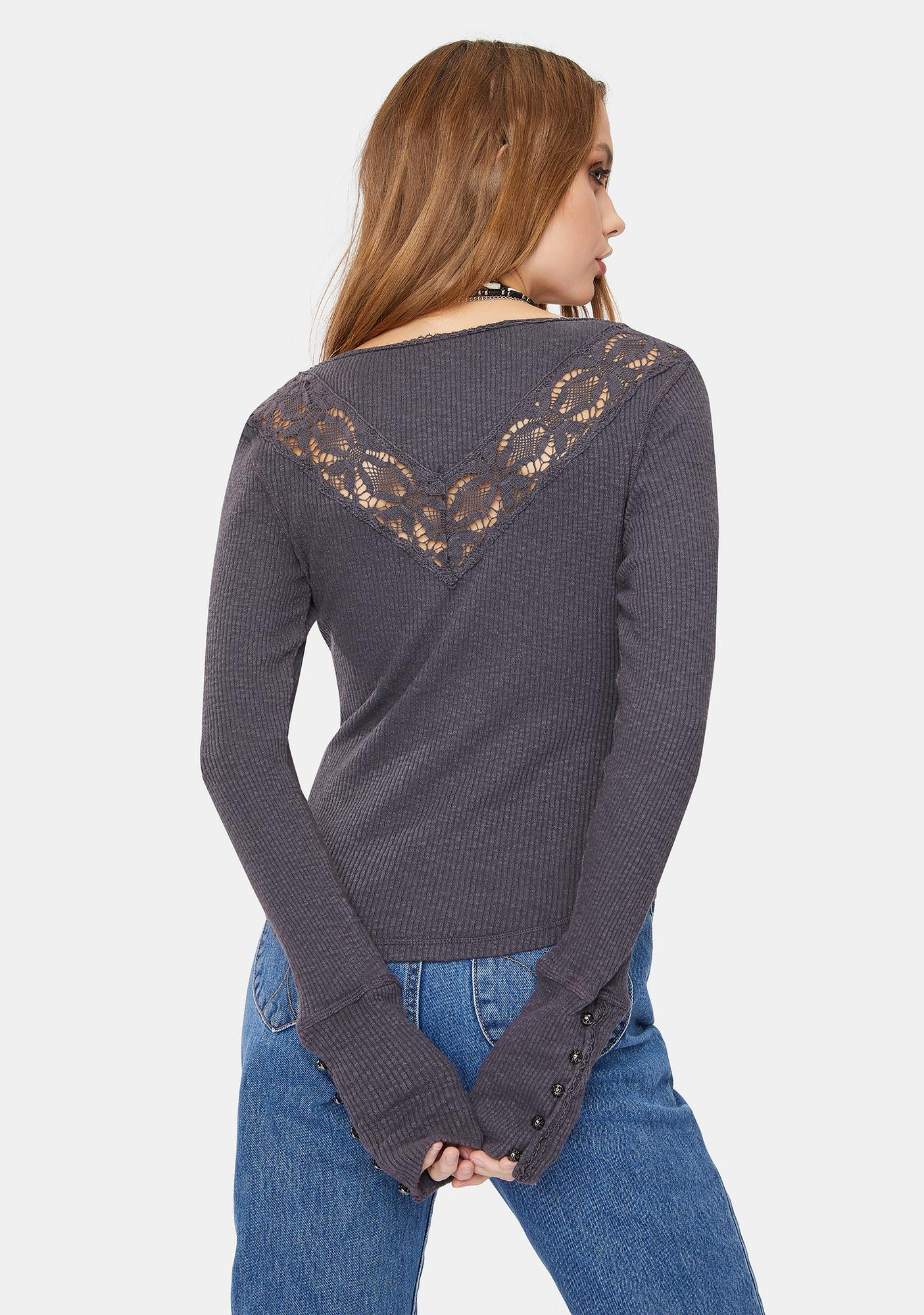 Free People Come On Over Henley Tee