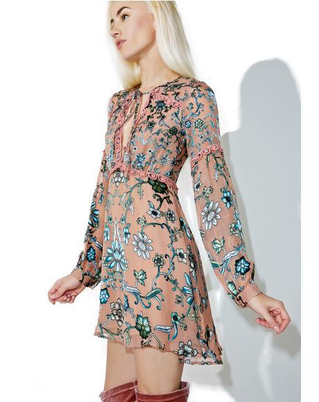 Blush Saffron Mini Dress