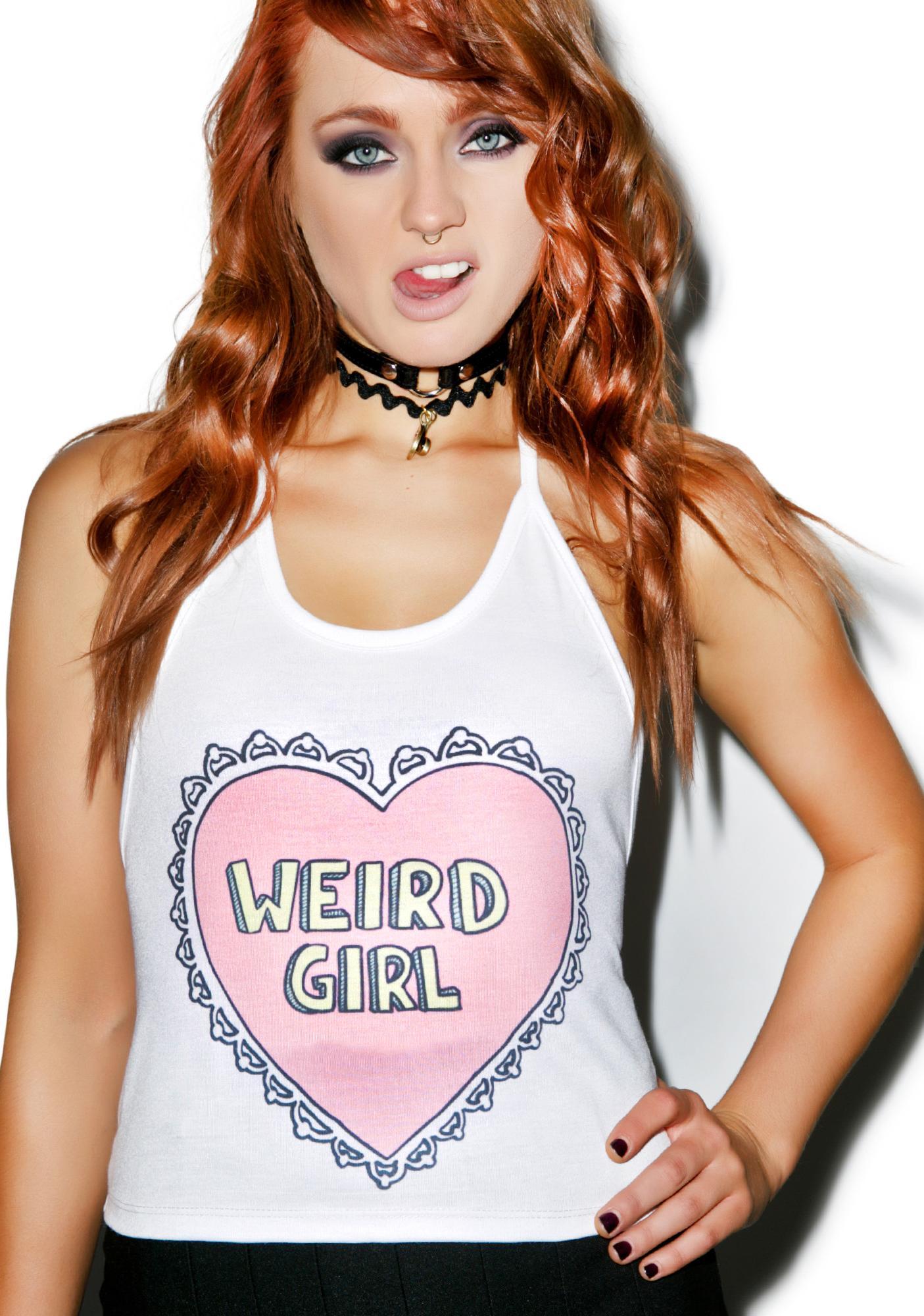 Weird Girl Halter Top