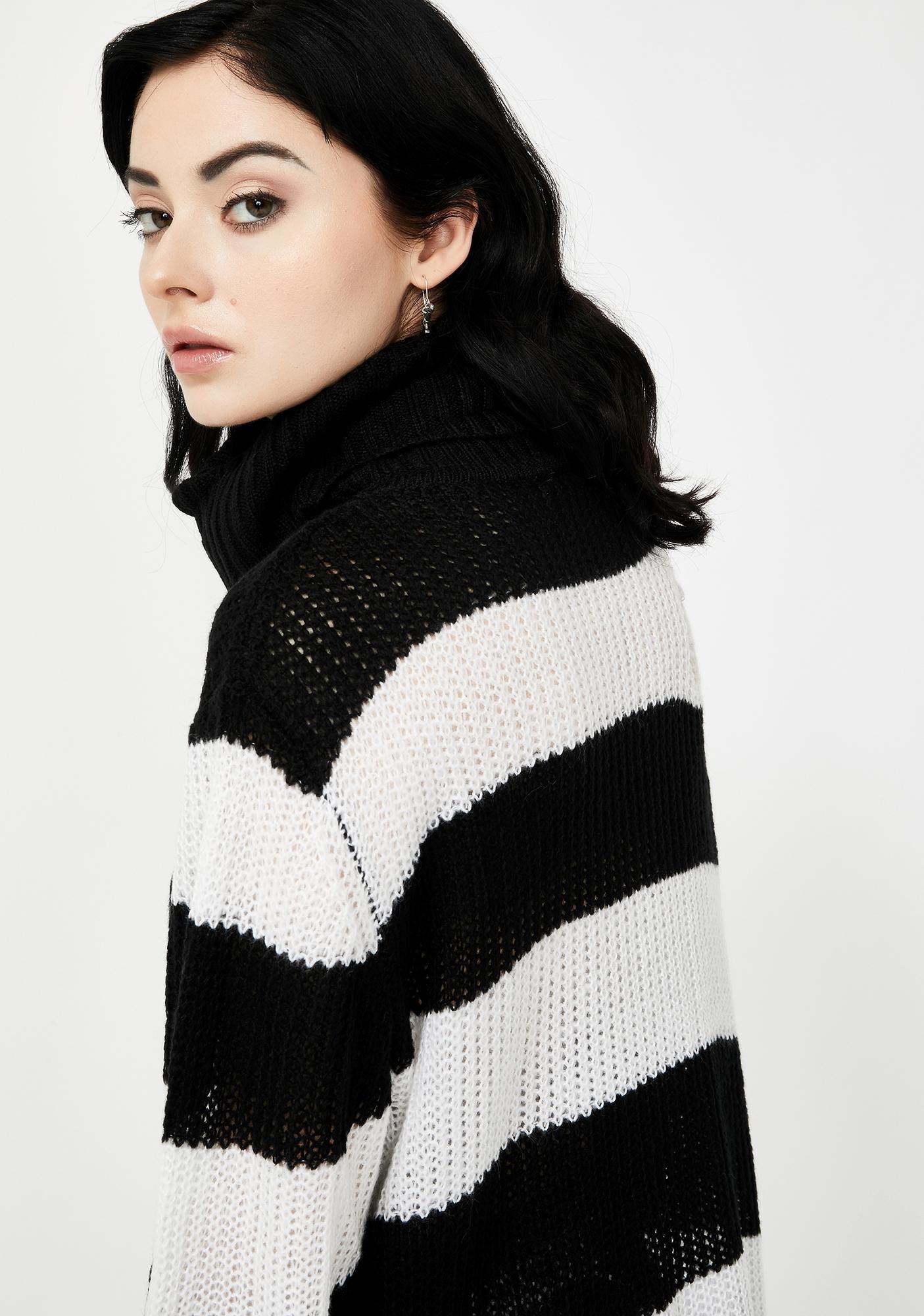 Killstar Seven Knit Turtleneck Sweater