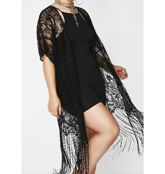 Lost Girl Fringe Lace Kimono