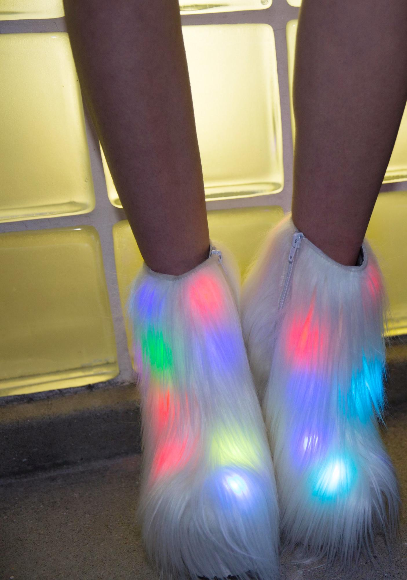 Current Mood Fluffer Light-Up Boots