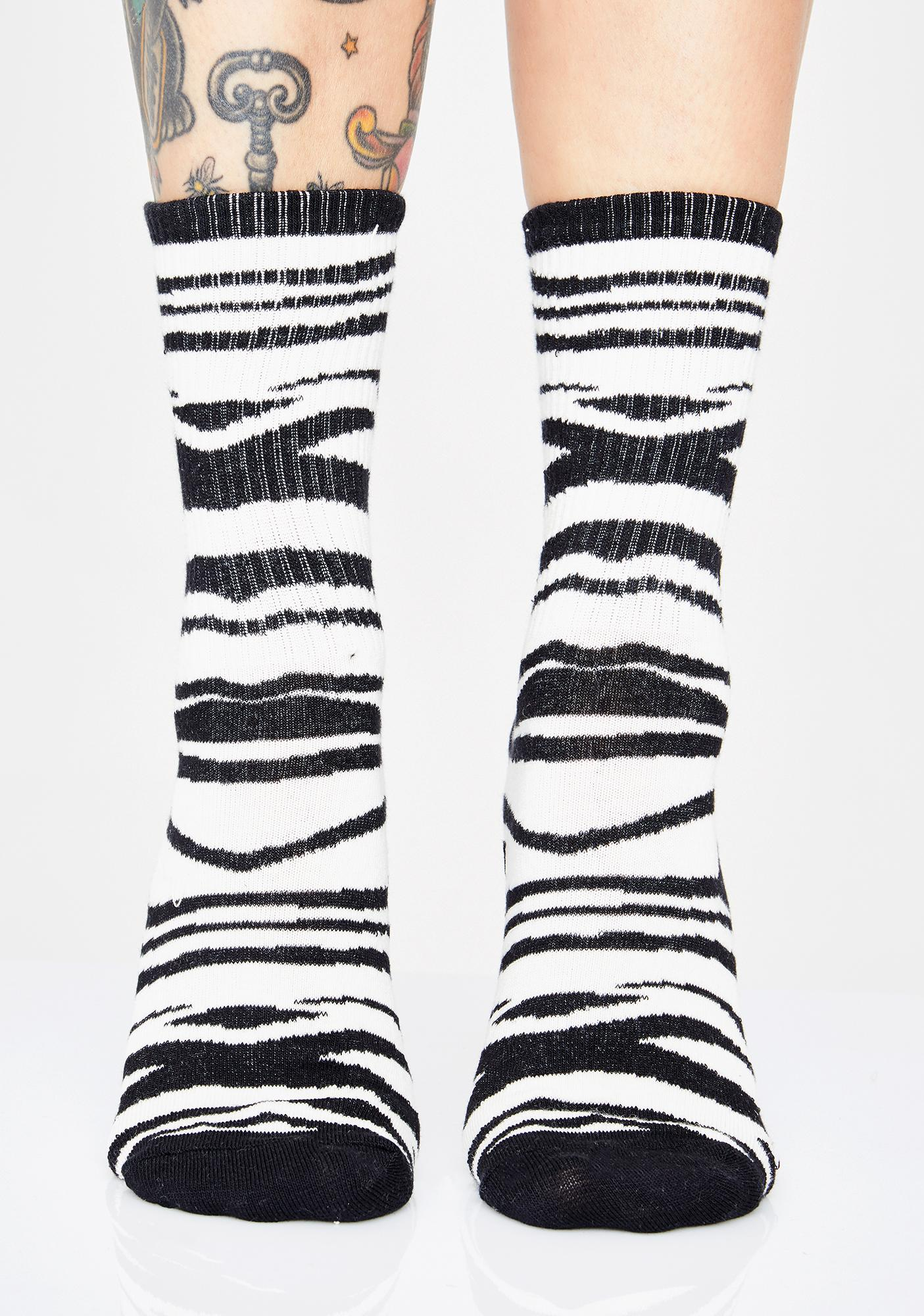 Wild World Zebra Socks