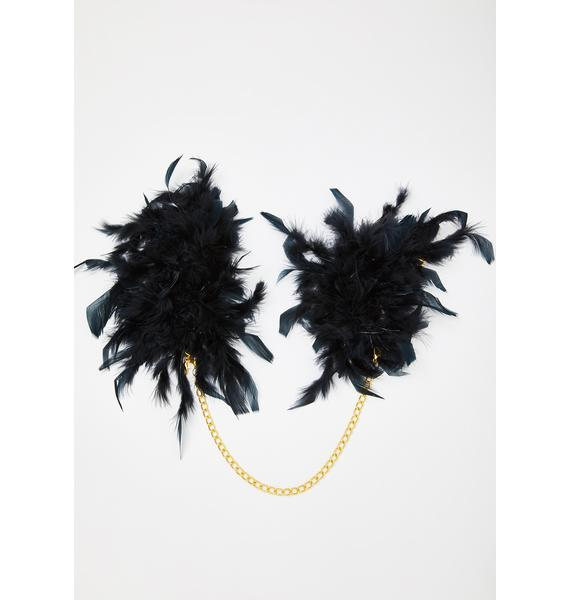 Forplay Feather Chain Handcuffs