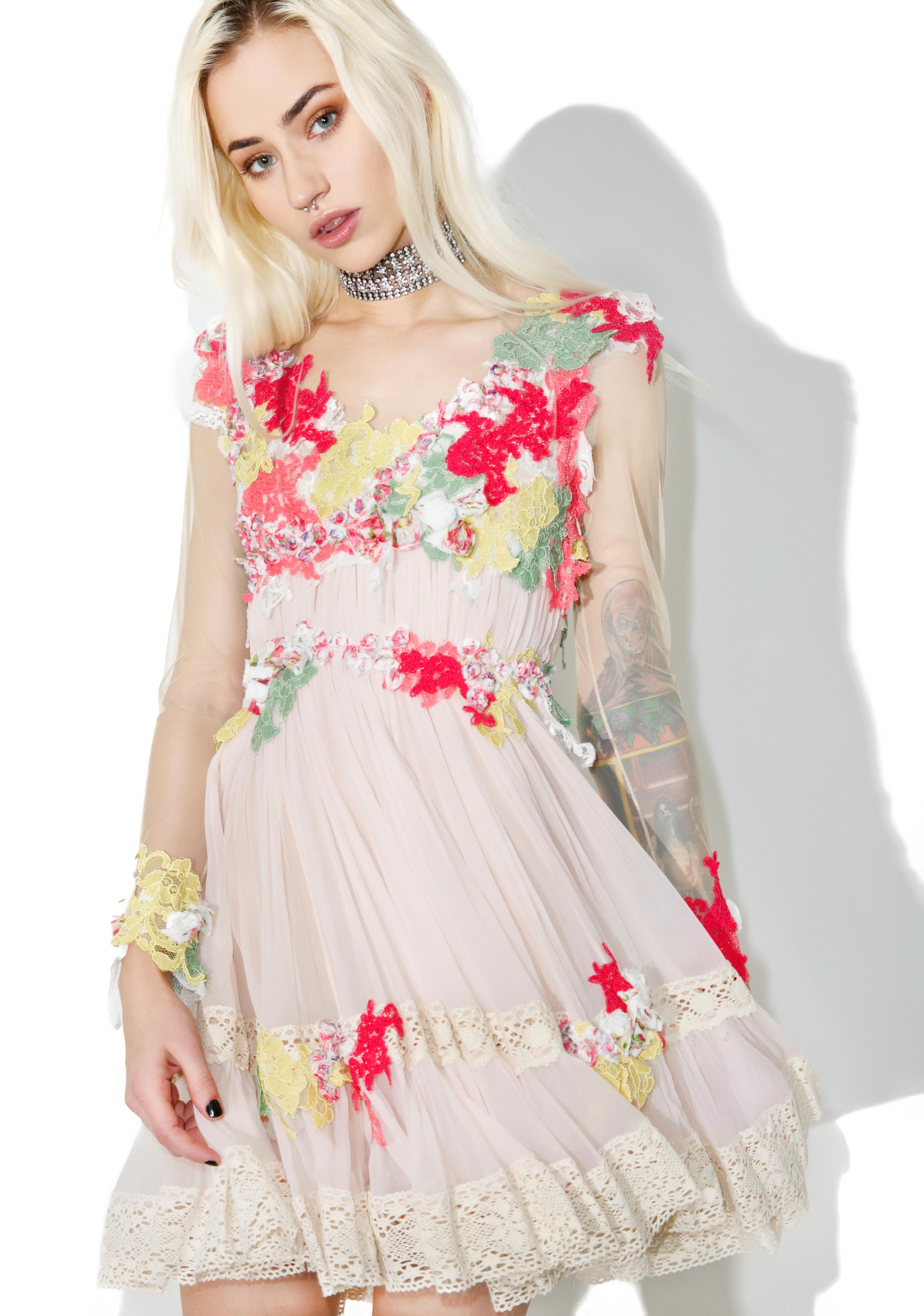 Dew Drop Floral Dress