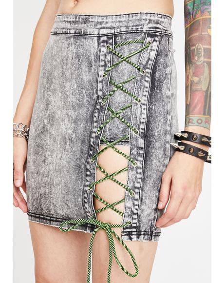 Freakish Ways Lace-Up Skirt