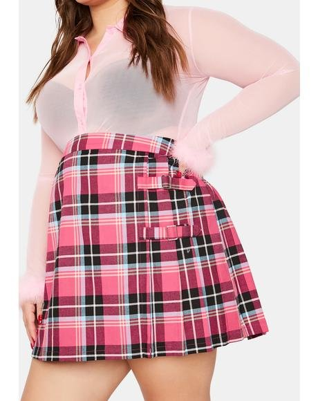 Plus Never Too Late Mini Skirt