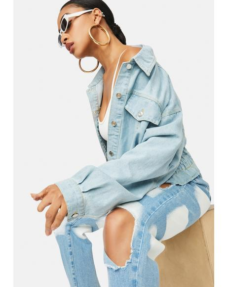 Total Icon Crop Denim Jacket