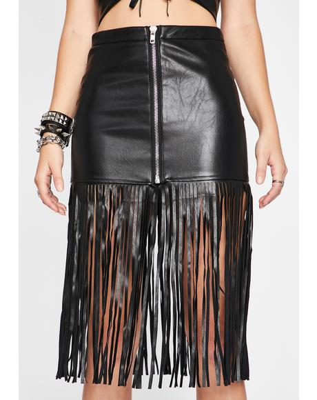 My Kinda Crazy Fringe Skirt