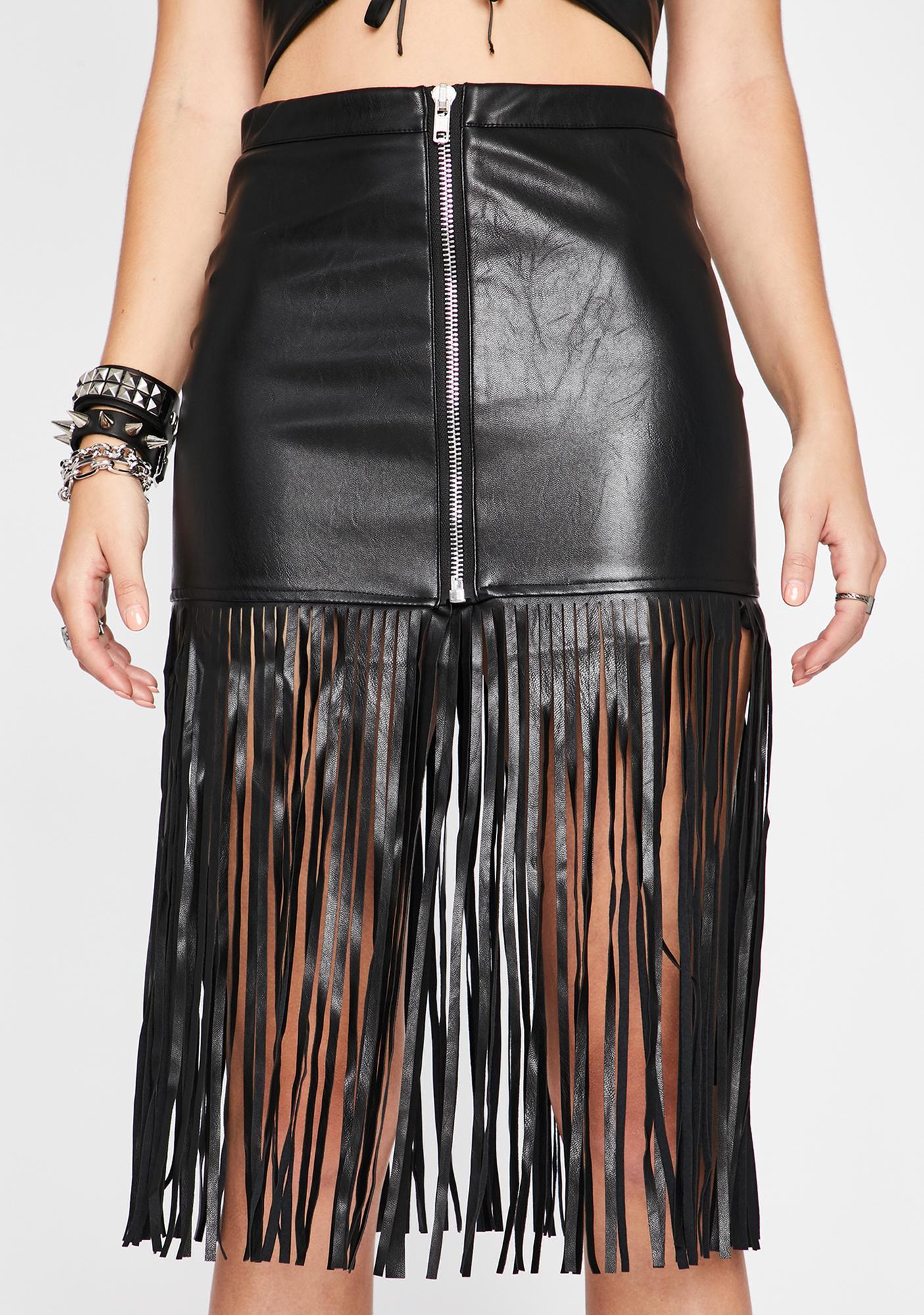 My Kinda Crazy Fringe Skirt