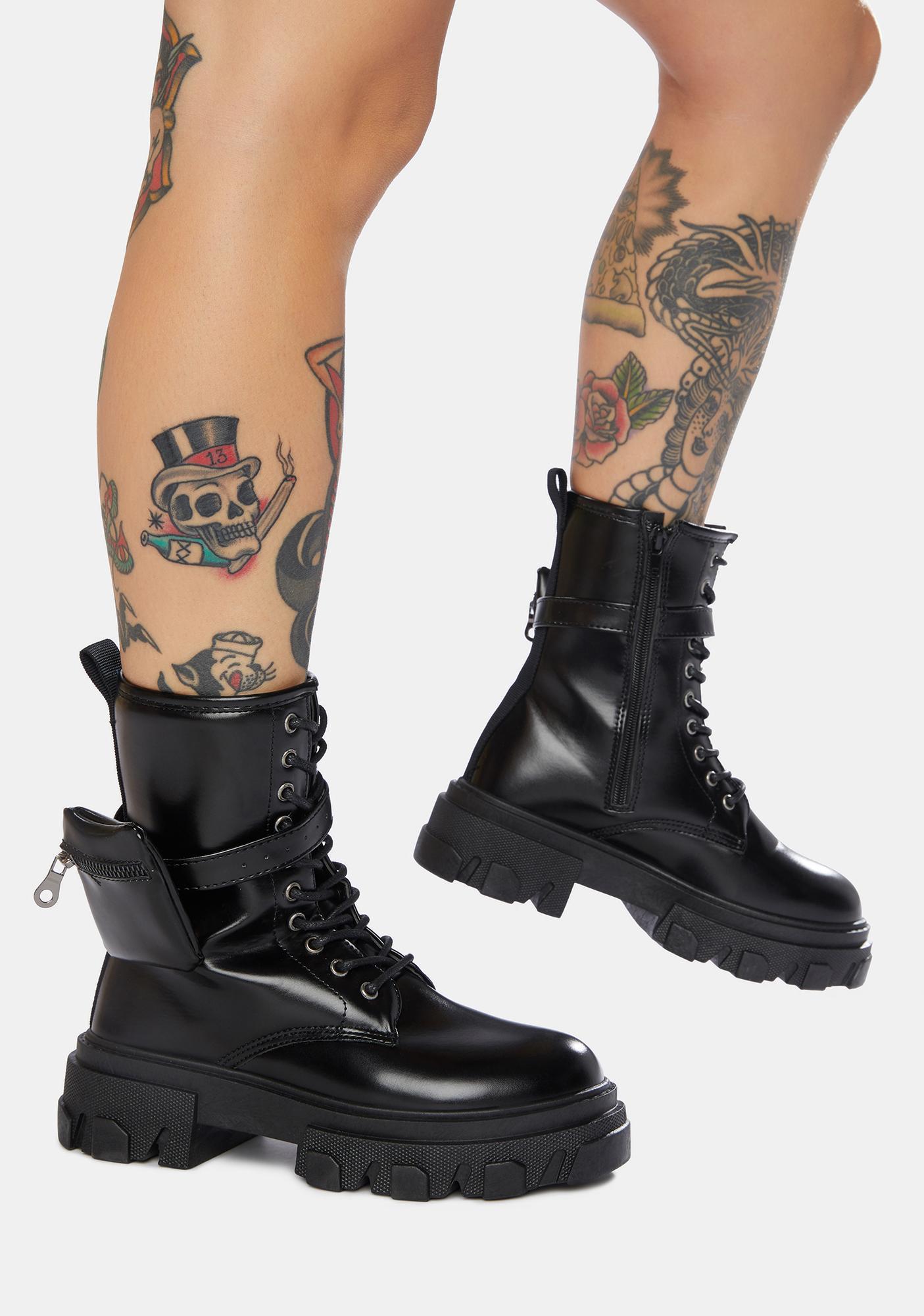 Imagine That Pocket Combat Boots