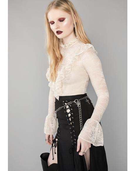 Mourning Heart Lace Top