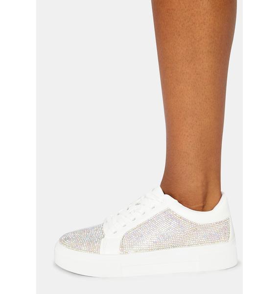 Preppy Polished Rhinestone Sneakers