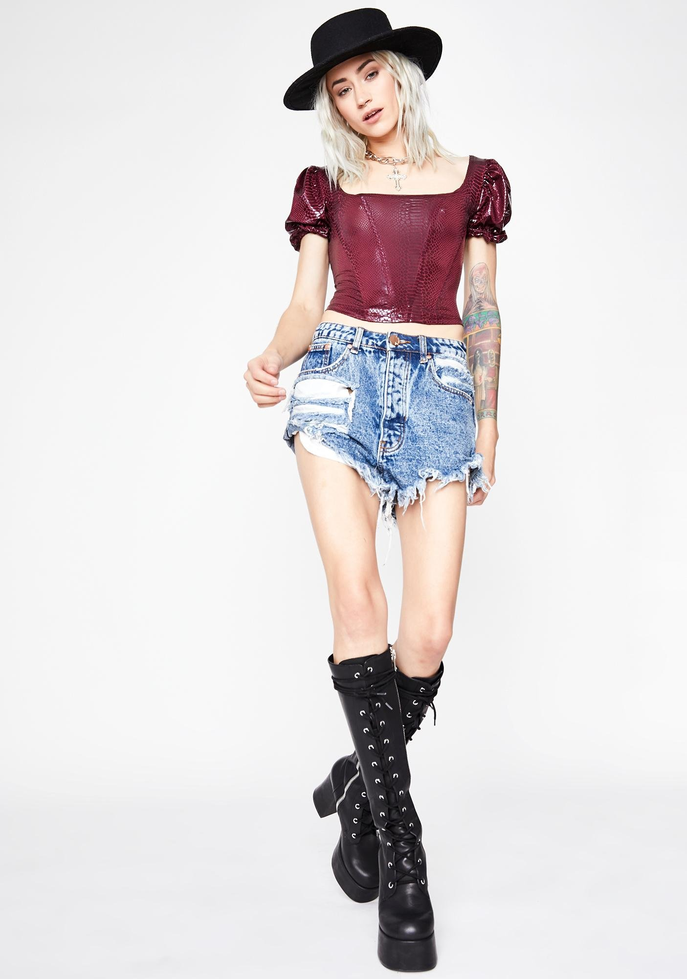 Wine Not Your Toy Corset Blouse