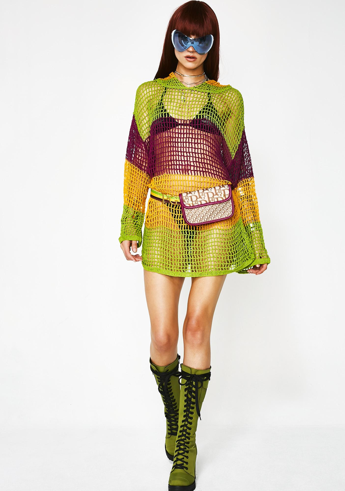 Poster Grl Savage Barb Crochet Sweater