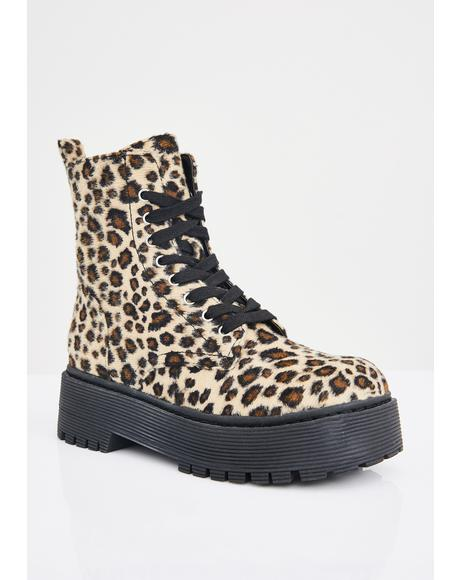 Quick Like A Cat Combat Boots