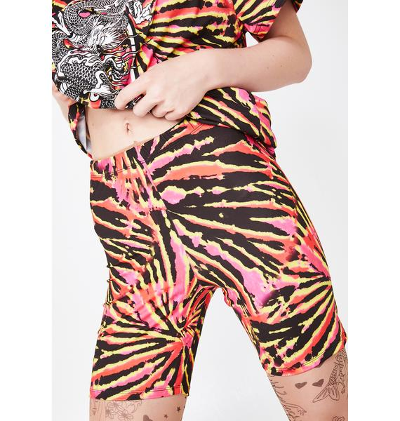Jaded London Tie Dye Cycling Shorts