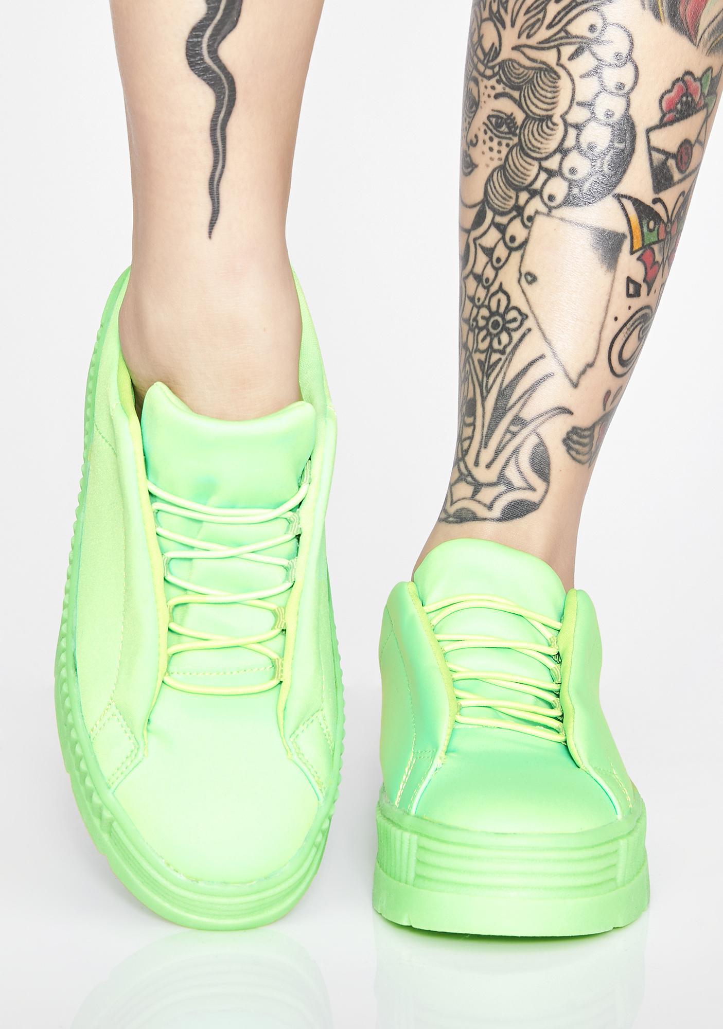 8b75d29be50 Slime Anti-Gravity Platform Sneakers