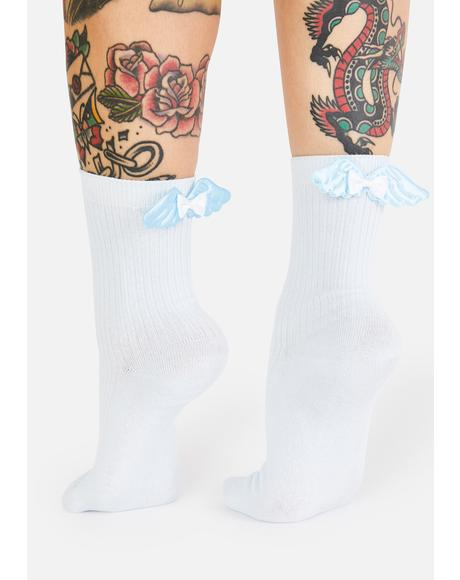 Angel Kisses Crew Socks
