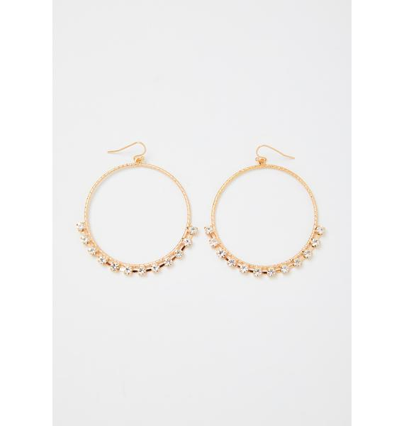 Icy Affair Rhinestone Hoops