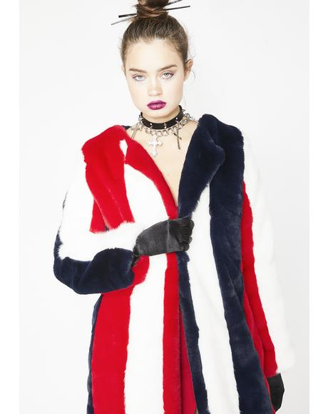 Cruel Deville Faux Fur Coat