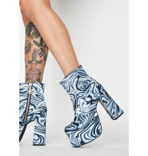 dELiA*s by Dolls Kill Whirl Of Wonder Platform Boots