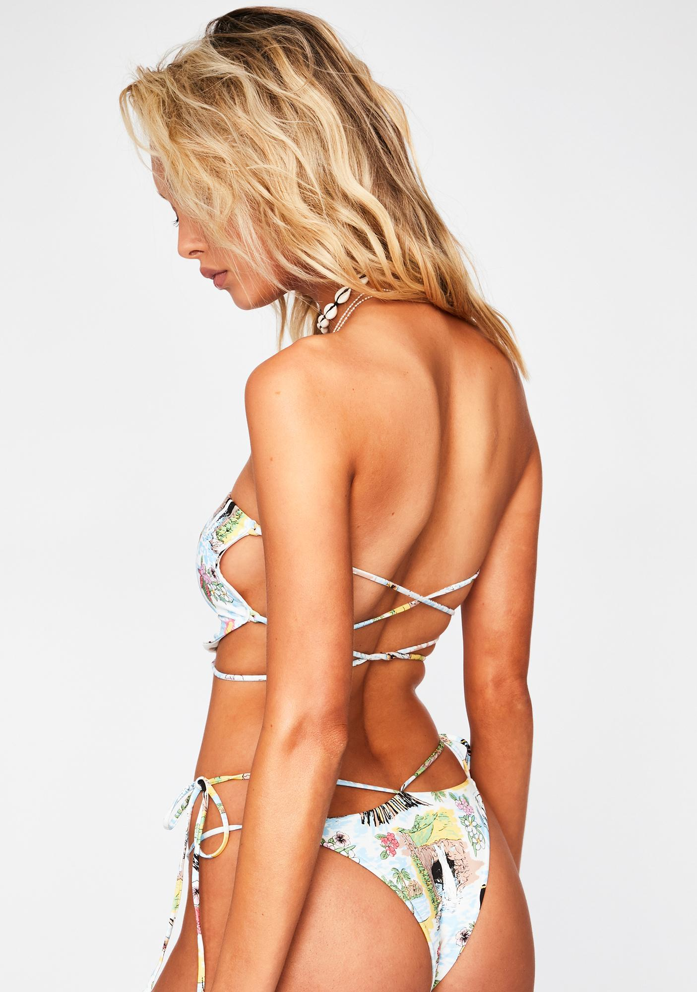 Frankies Bikinis Aloha Halo Bikini Bottoms