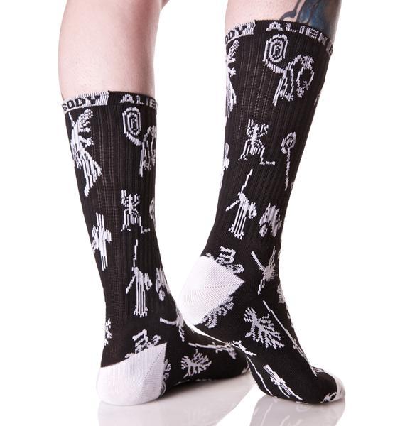 Nazca Line Socks