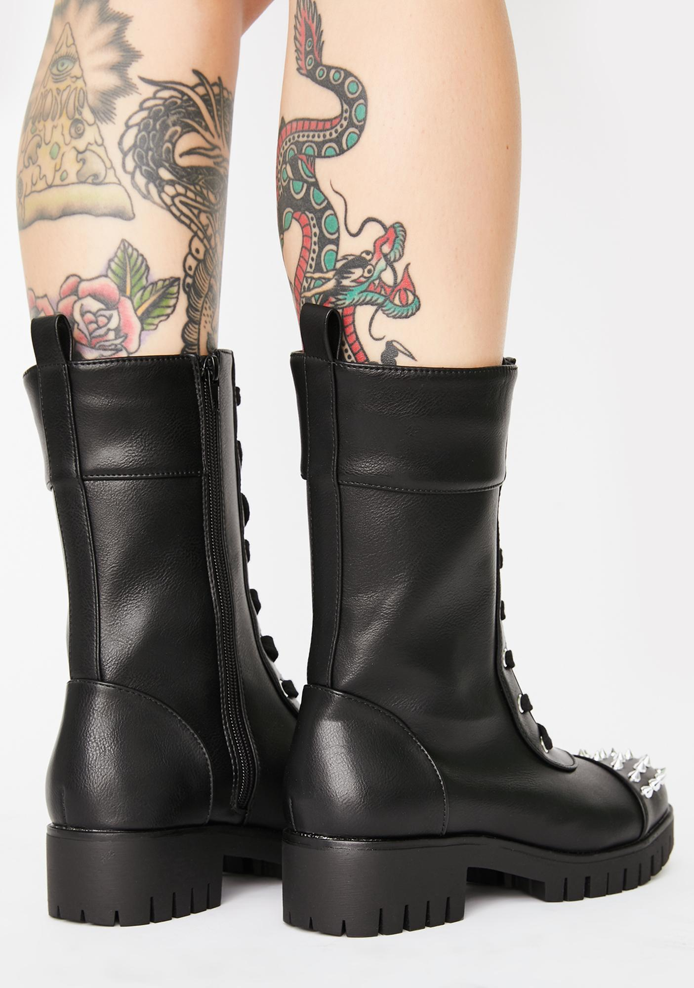 Lashing Out Combat Boots