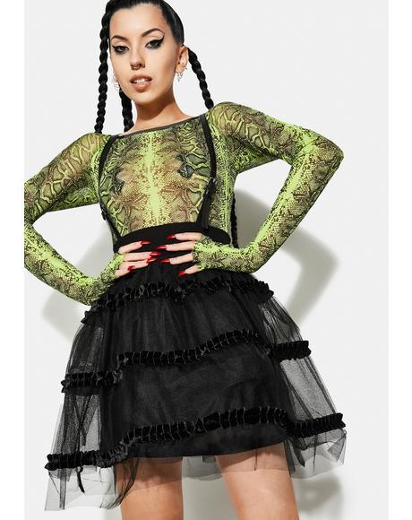 Magic Doll Suspender Mesh Bubble Skirt