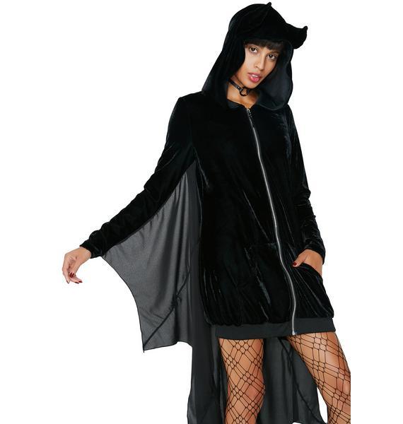 Dolls Kill Fly By Night Bat Hoodie